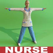 Sjuksköterska 3d model