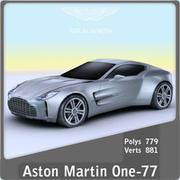 2011 AstonMartin one-77 3d model