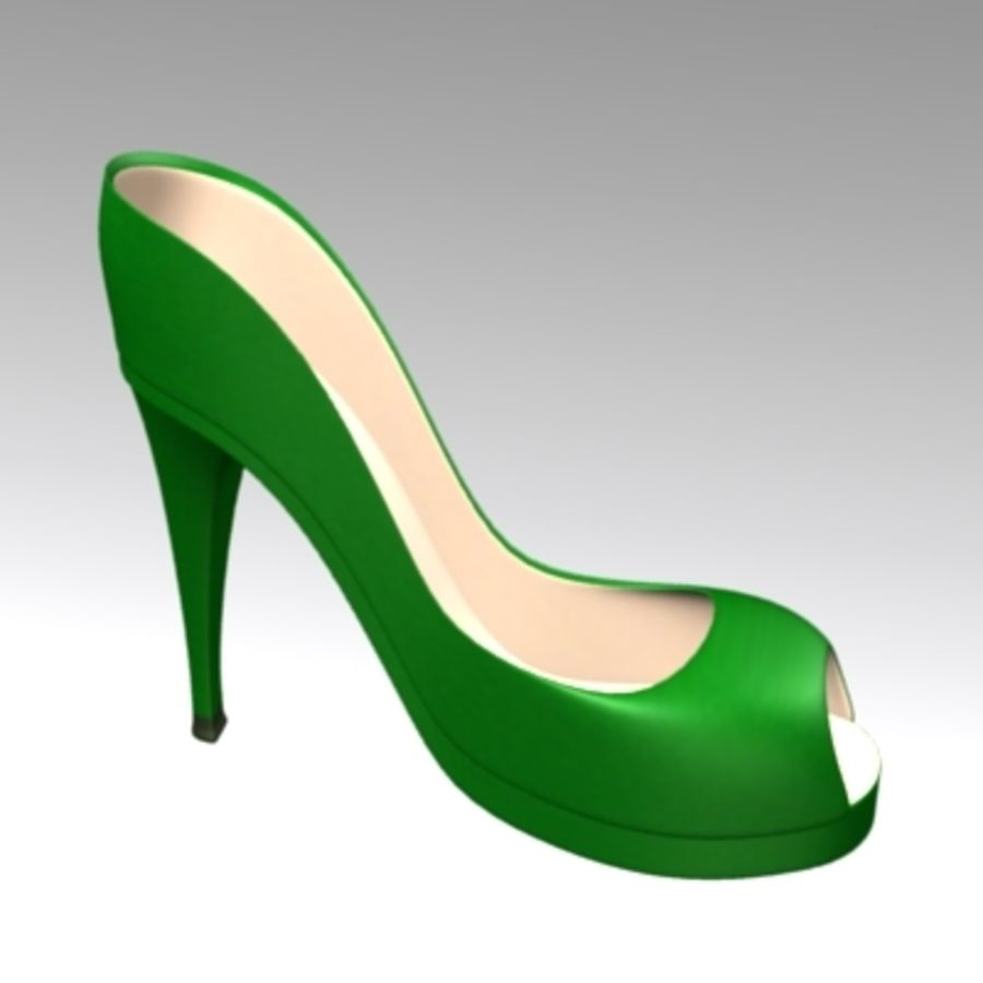 shoes4 royalty-free 3d model - Preview no. 2