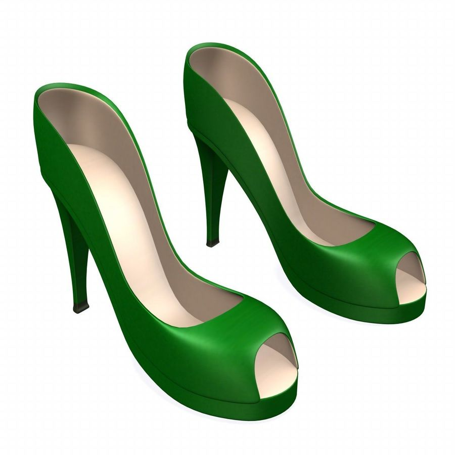shoes4 royalty-free 3d model - Preview no. 1