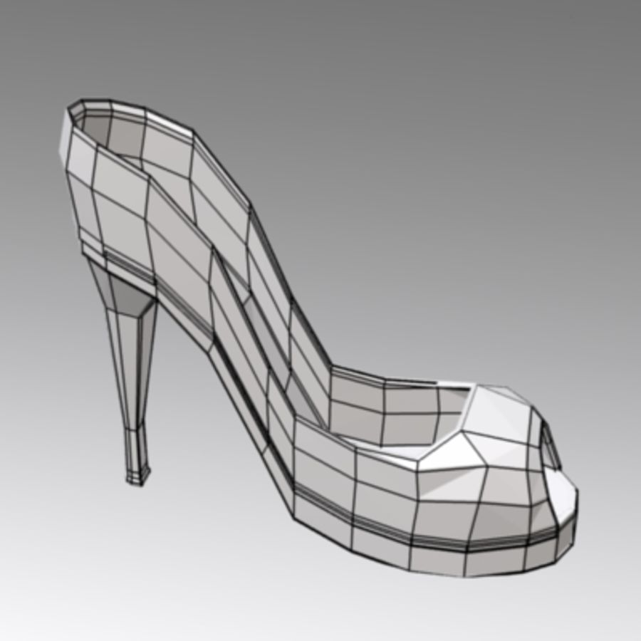 shoes4 royalty-free 3d model - Preview no. 3
