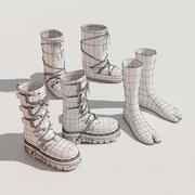 Street Fashion Footwear set by 3DRivers 3d model