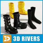 Street Fashion Footwear set by 3DRivers 3d model
