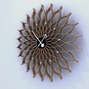 向日葵时钟 3d model