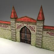 Gate and wall 3d model