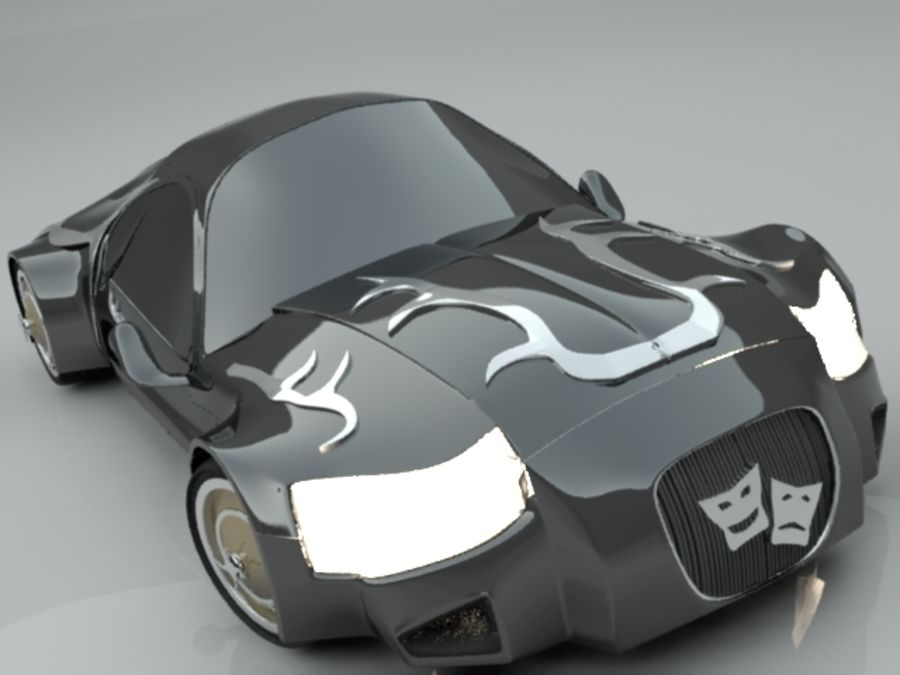 Concept auto royalty-free 3d model - Preview no. 1
