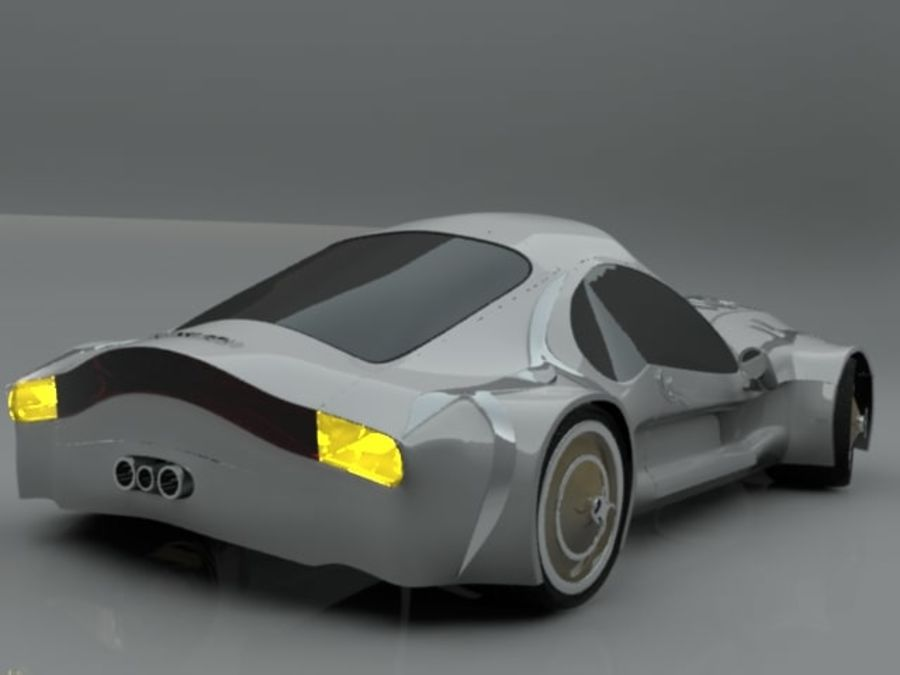 Concept auto royalty-free 3d model - Preview no. 4