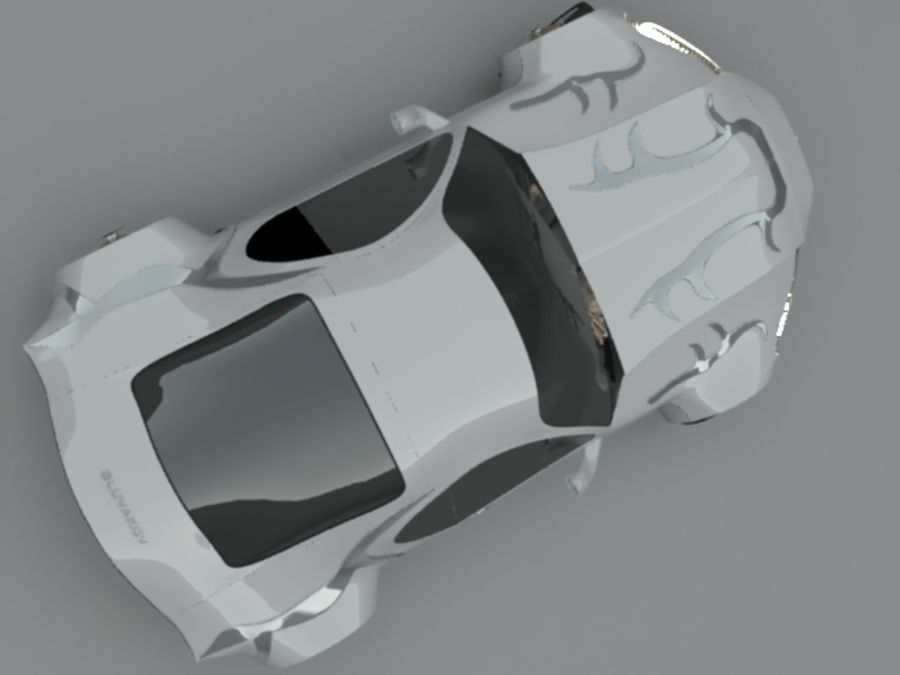 Concept auto royalty-free 3d model - Preview no. 5