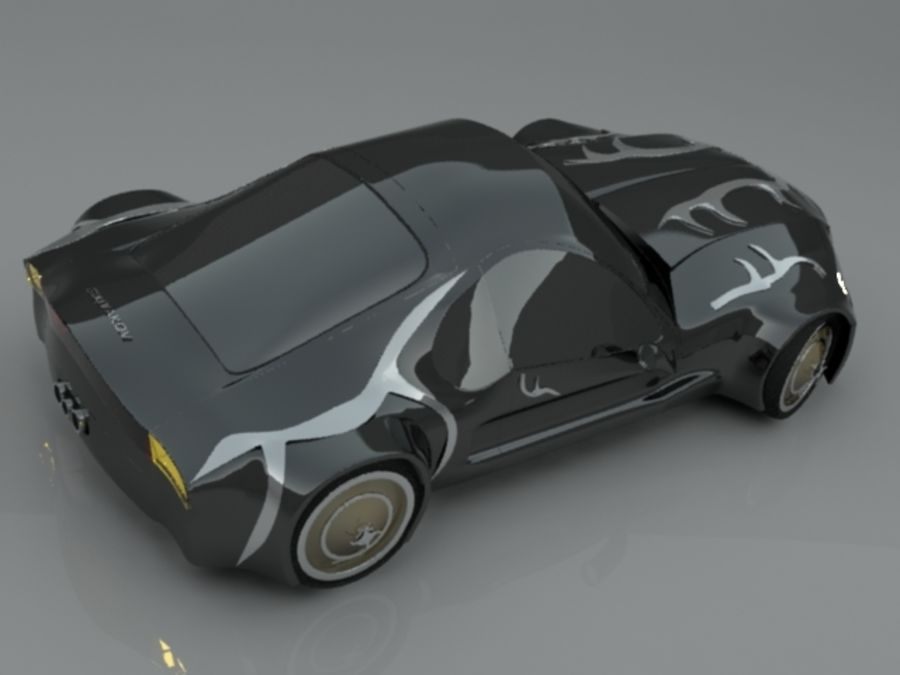 Concept auto royalty-free 3d model - Preview no. 3