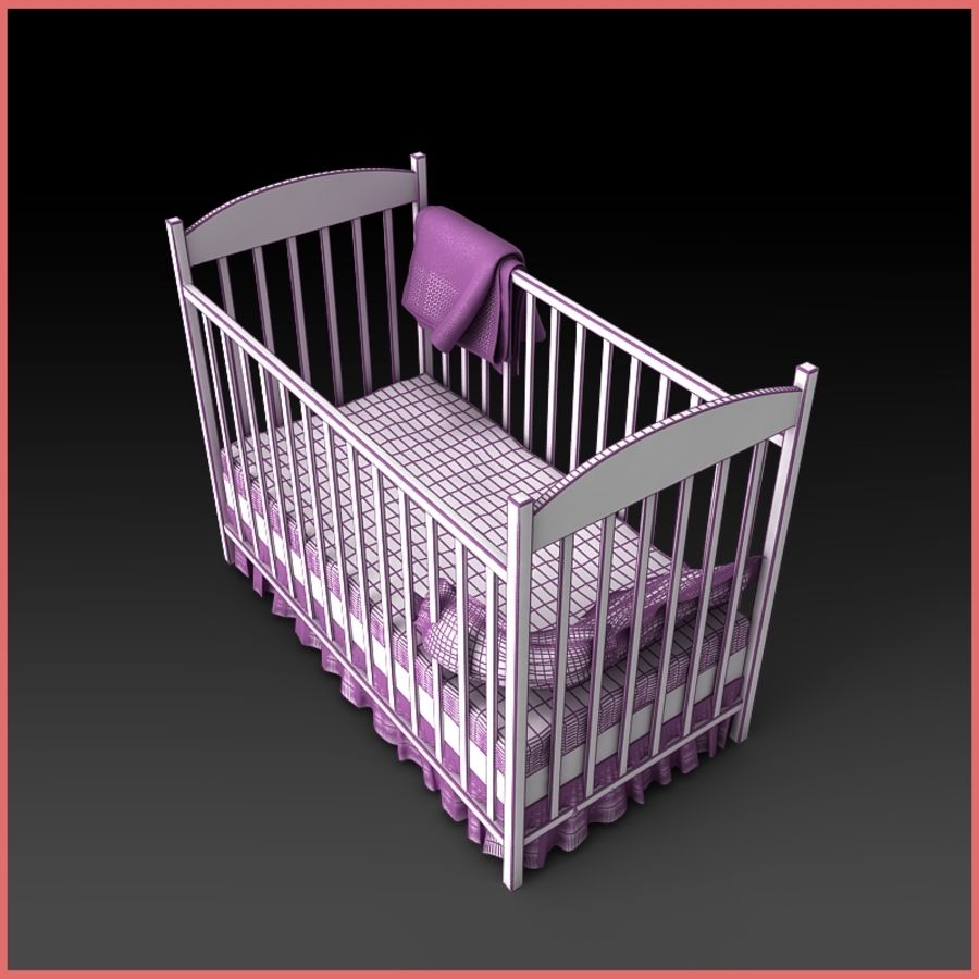 Baby Crib 3D Model $12 - .unknown .max .fbx .3ds - Free3D