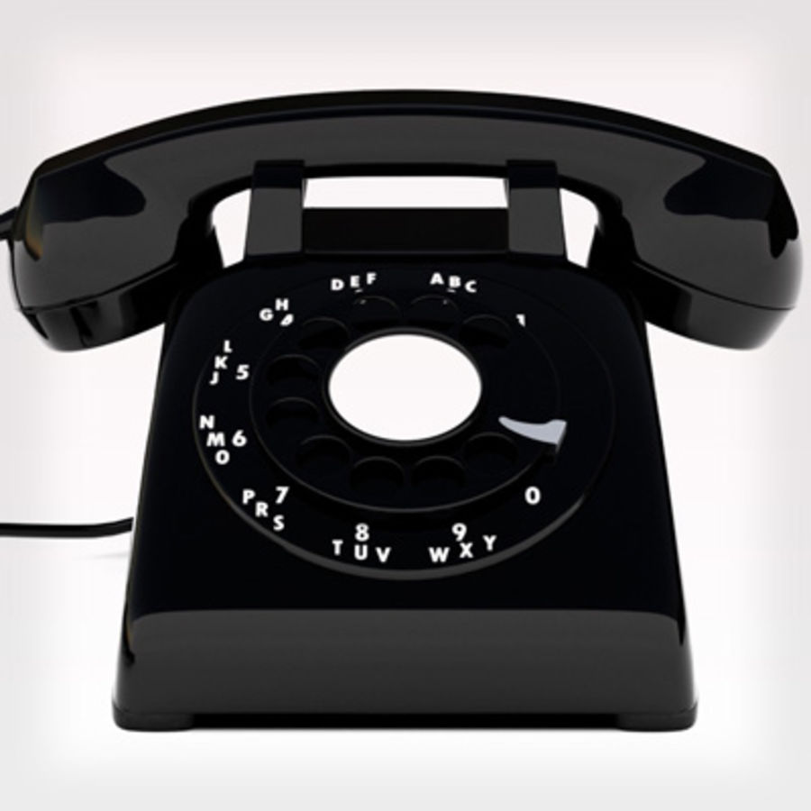 Roterende telefoon royalty-free 3d model - Preview no. 5