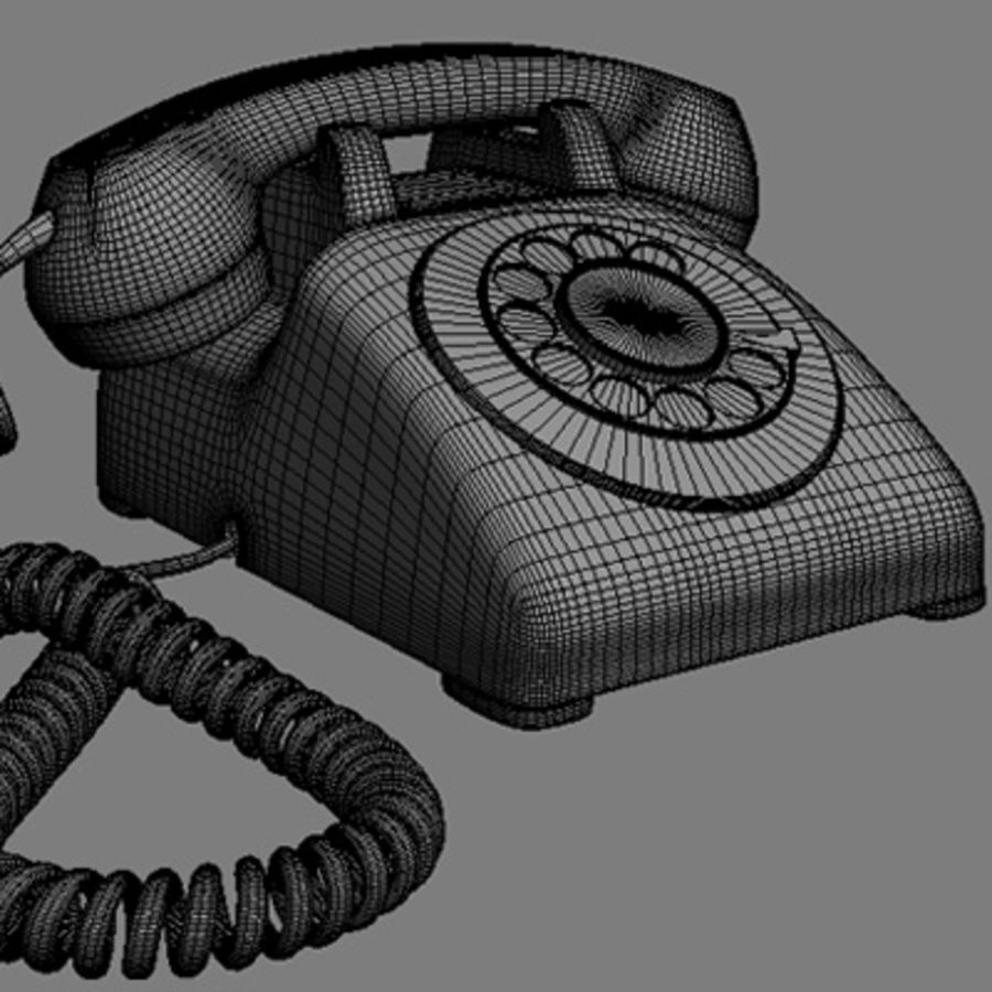 Roterende telefoon royalty-free 3d model - Preview no. 8