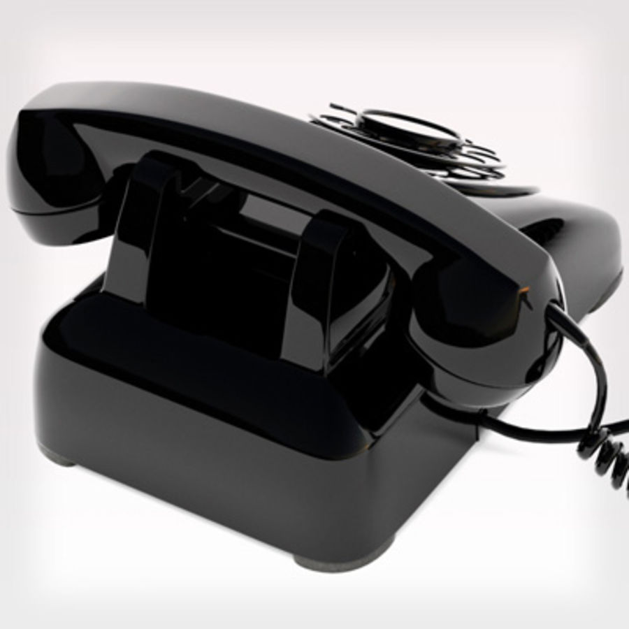 Roterende telefoon royalty-free 3d model - Preview no. 6