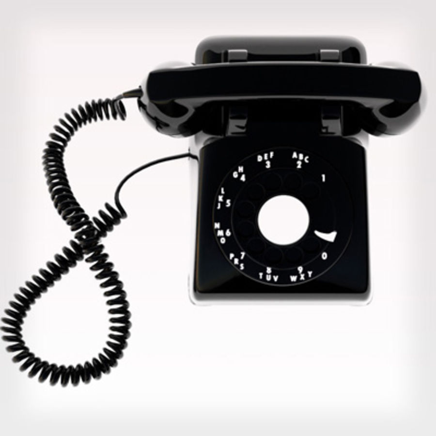 Rotary Phone royalty-free 3d model - Preview no. 3