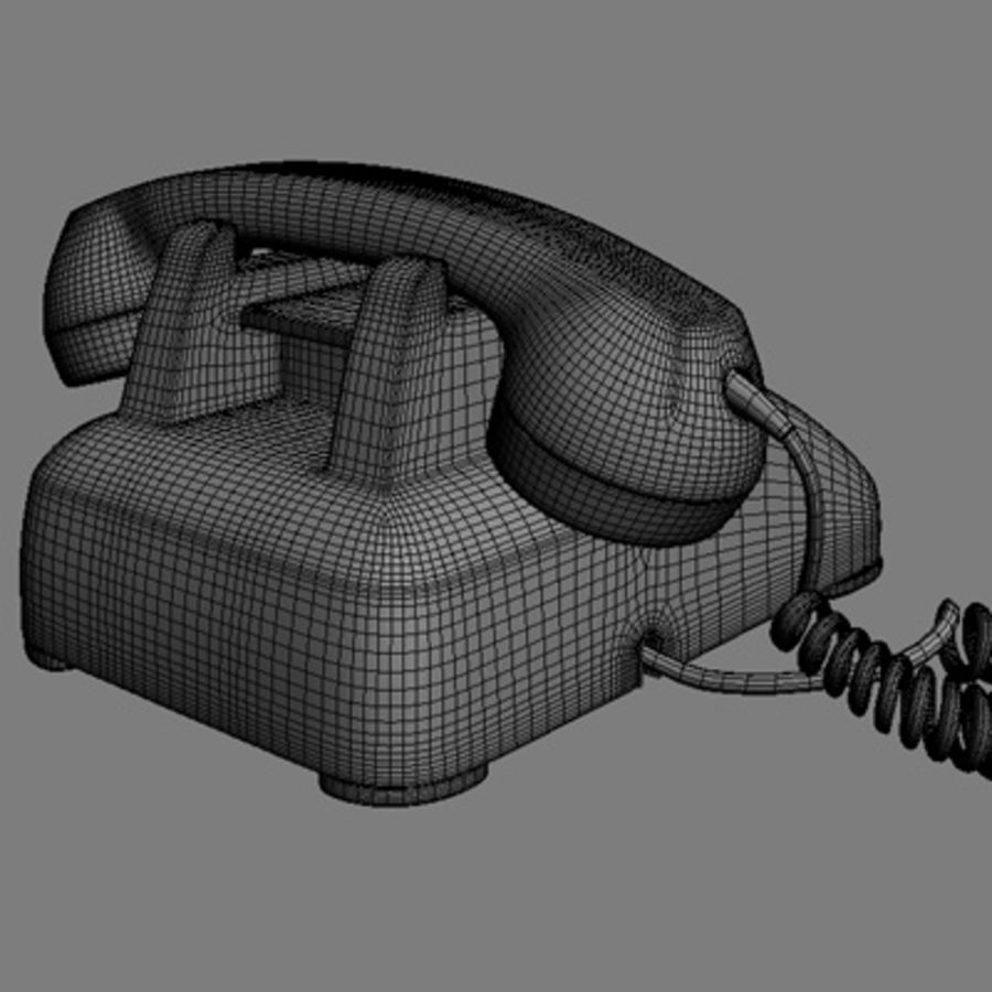 Roterende telefoon royalty-free 3d model - Preview no. 7