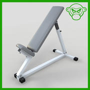 incline bench 3d model