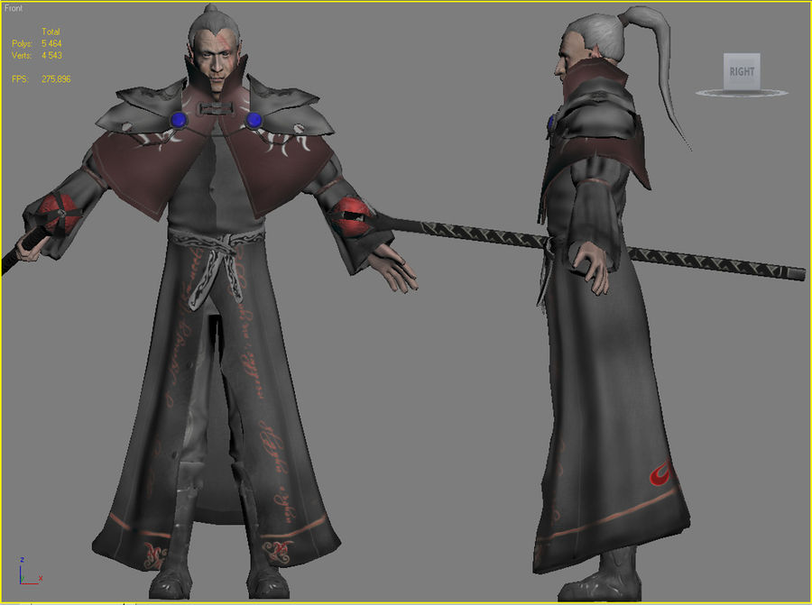 Black Battle Mage royalty-free 3d model - Preview no. 4