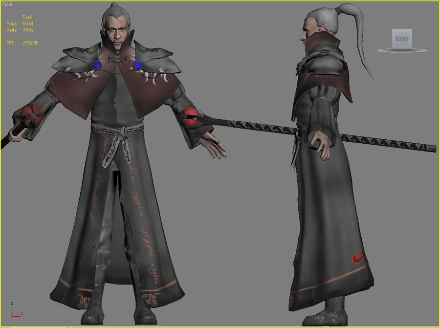 Black Battle Mage royalty-free 3d model - Preview no. 2