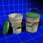干墙泥桶01 3d model