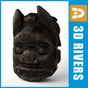 Maska afrykańska 01 autorstwa 3DRivers 3d model