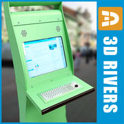 Interactive kiosk by 3DRivers 3d model