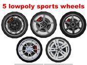 coleção lowpoly de roda esporte 3d model