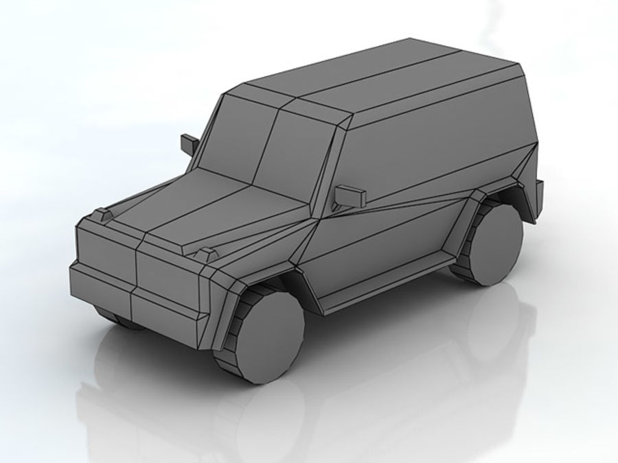 G-klasse brabus lowpoly royalty-free 3d model - Preview no. 4