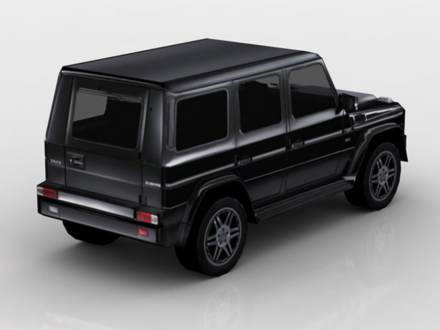 G-klasse brabus lowpoly royalty-free 3d model - Preview no. 3