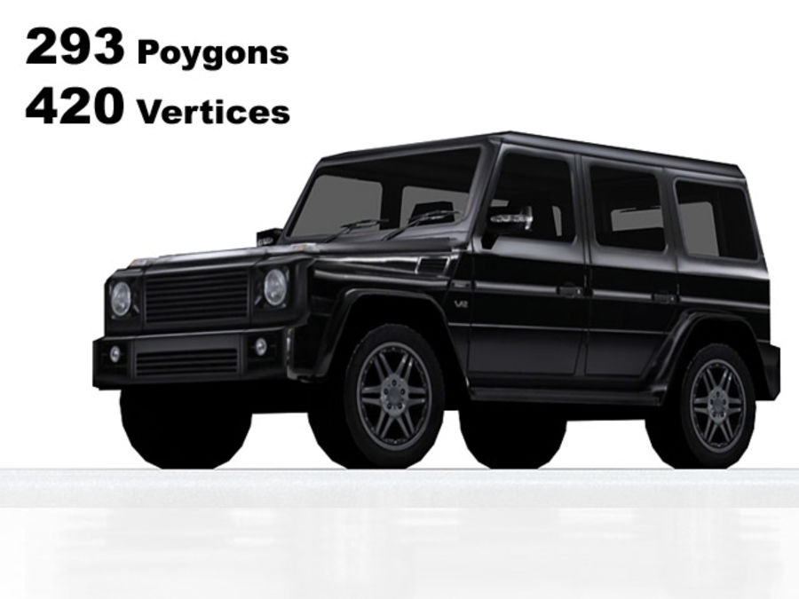 G-klasse brabus lowpoly royalty-free 3d model - Preview no. 1