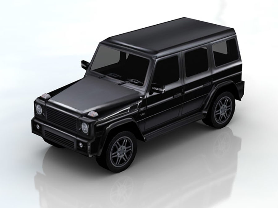 G-klasse brabus lowpoly royalty-free 3d model - Preview no. 2