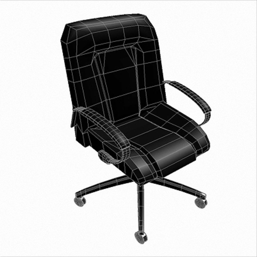 Office Chair 03 royalty-free 3d model - Preview no. 2