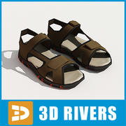 Men sandals by 3DRivers 3d model