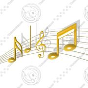 Music Notes 3d model