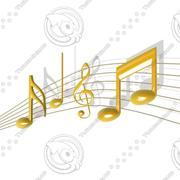 Музыкальные ноты 3d model