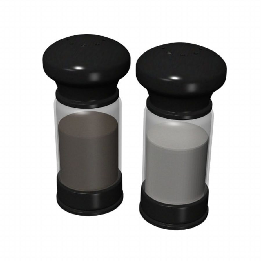 salt+pepper1 royalty-free 3d model - Preview no. 2