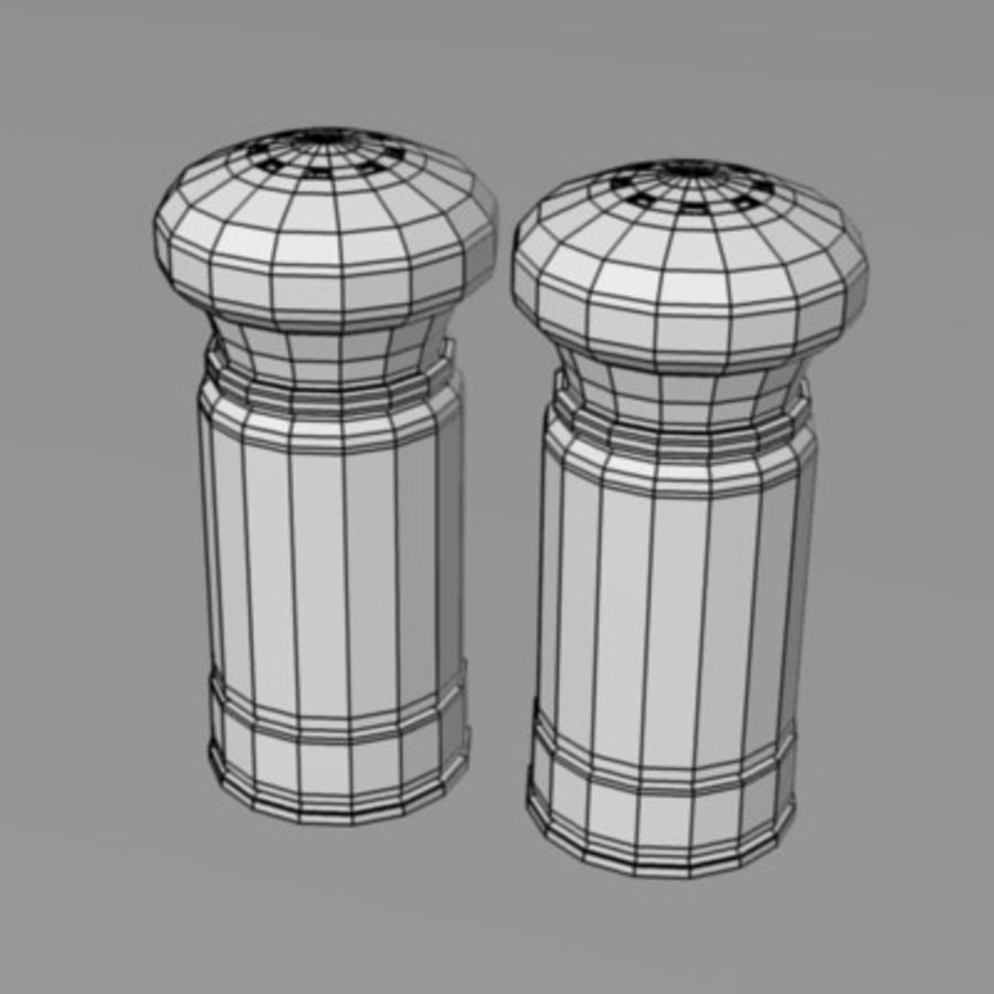salt+pepper1 royalty-free 3d model - Preview no. 3