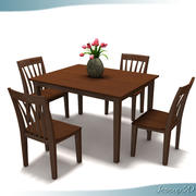 Traditional Dinner Table 3d model