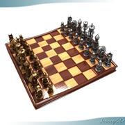 이그 제 큐 티브 체스 보드 및 조각 3d model