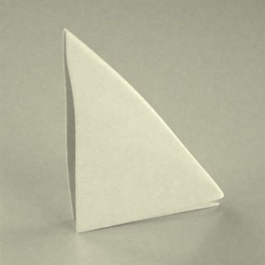 table napkin royalty-free 3d model - Preview no. 1