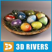 Easter eggs by 3DRivers 3d model