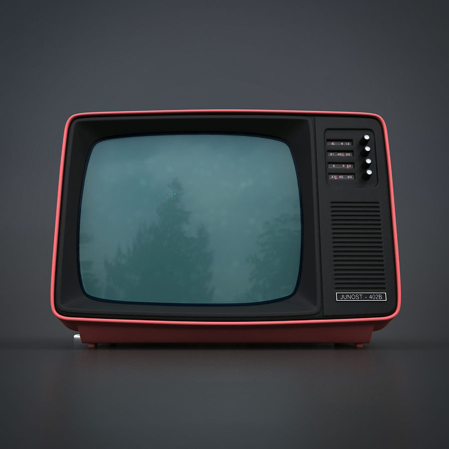 Retro Fernsehen royalty-free 3d model - Preview no. 3