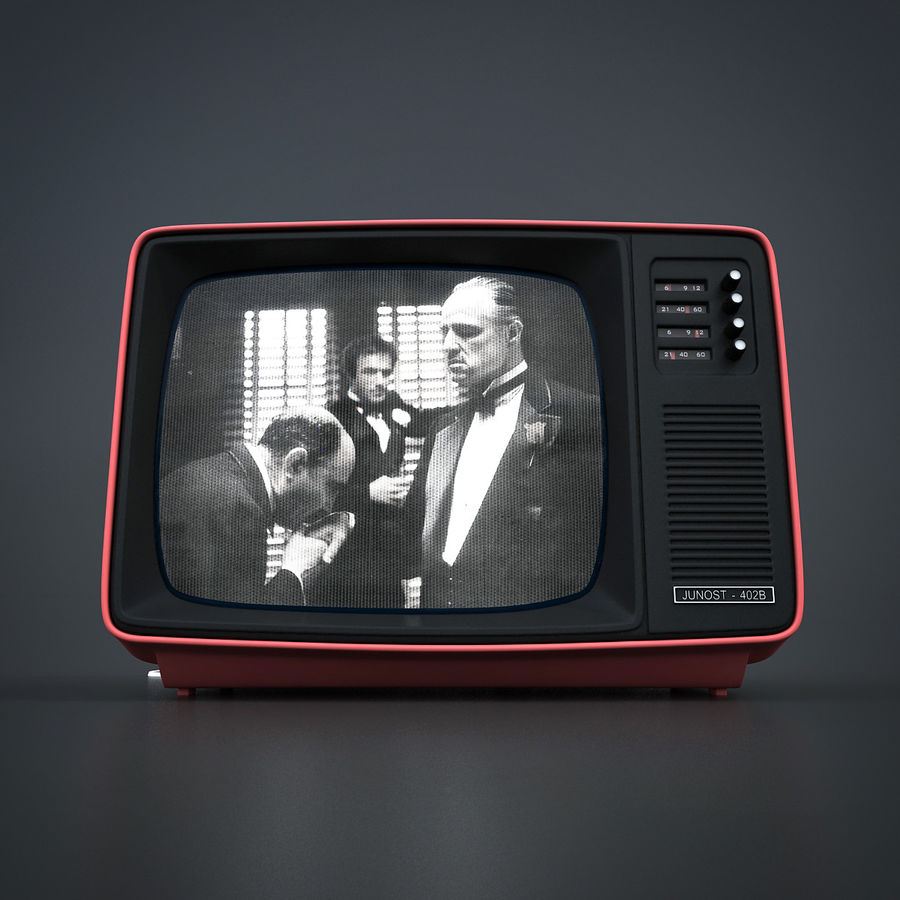 Retro Fernsehen royalty-free 3d model - Preview no. 2