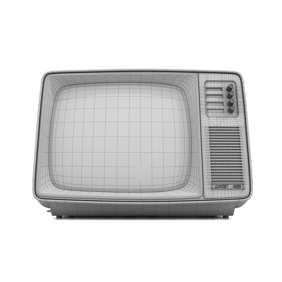 Retro Fernsehen royalty-free 3d model - Preview no. 12