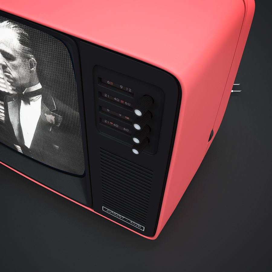 Retro Fernsehen royalty-free 3d model - Preview no. 9