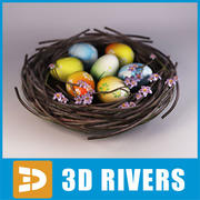 Easter nest by 3DRivers 3d model