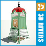 Pay phone 03 by 3DRivers 3d model