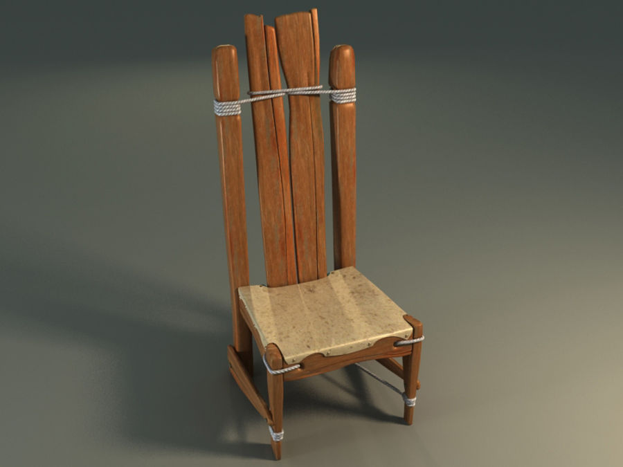 collection of ancient furniture royalty-free 3d model - Preview no. 4