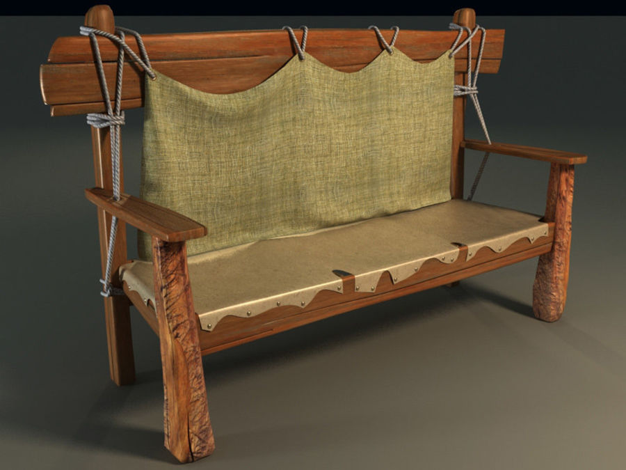 collection of ancient furniture royalty-free 3d model - Preview no. 1