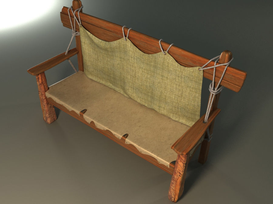 collection of ancient furniture royalty-free 3d model - Preview no. 2