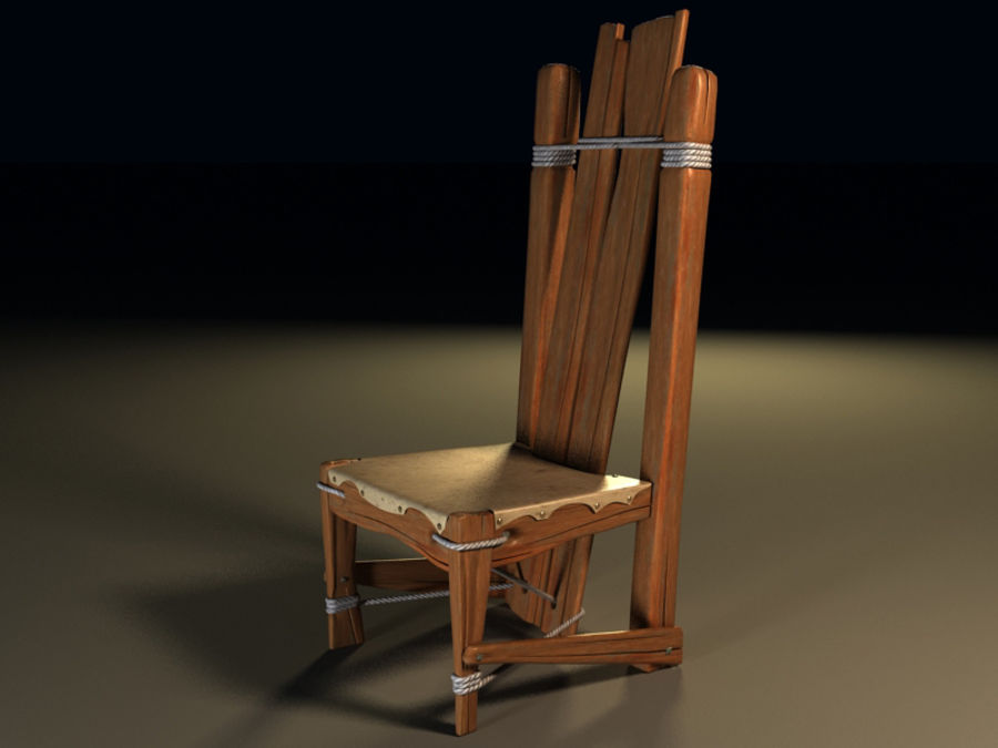 collection of ancient furniture royalty-free 3d model - Preview no. 3
